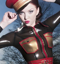 Annika Bond in Latex Outfit