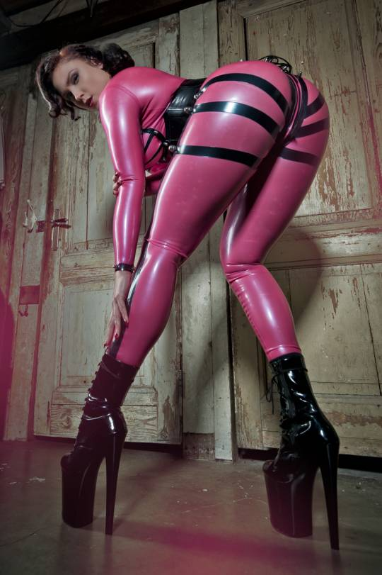 Starburst Latex Leggings with Bolts