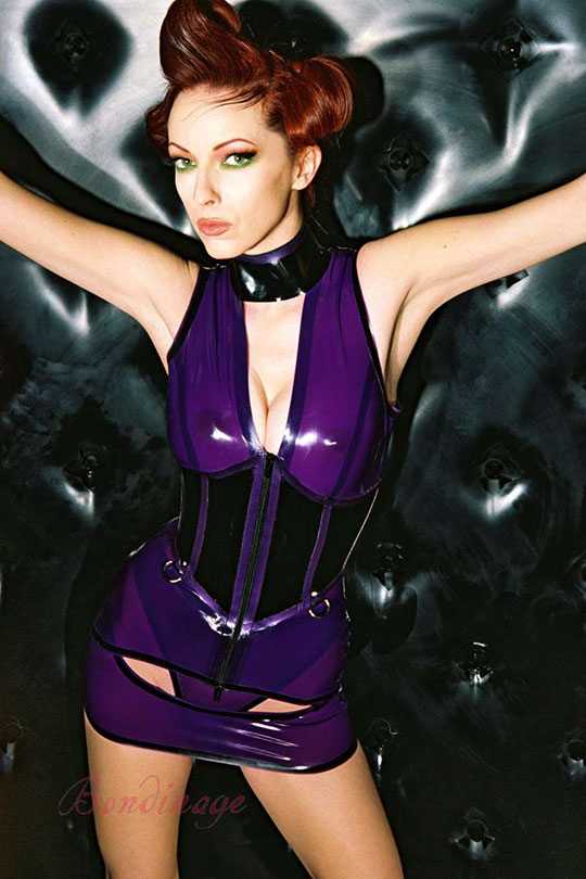 Carla Rubber Corseted Dress