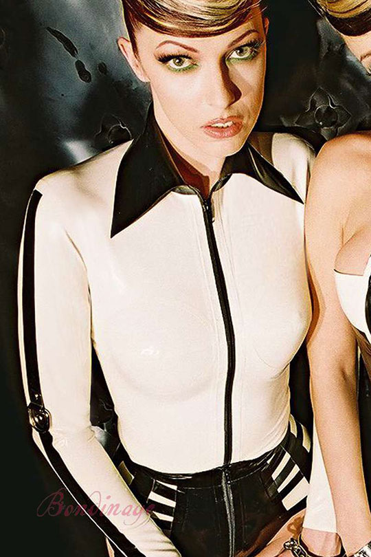 Alluring Slave Restraining Latex Shirt