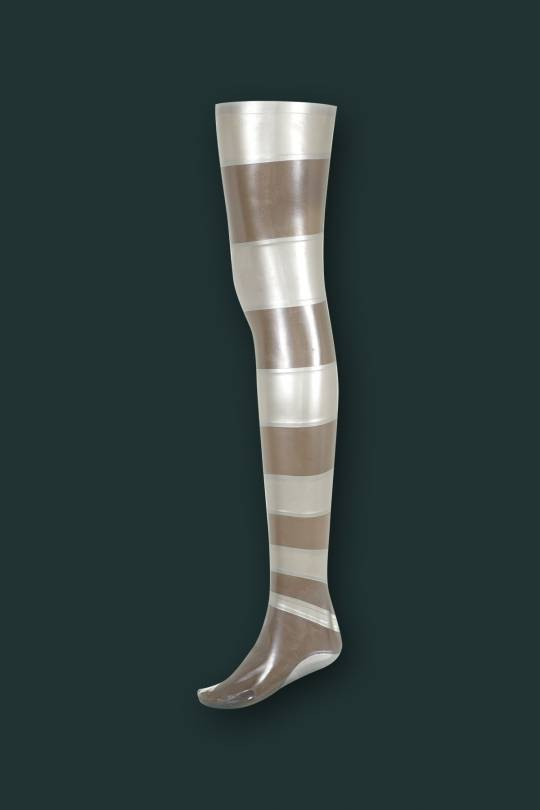 LATEX GRADIENT STRIPE STOCKINGS