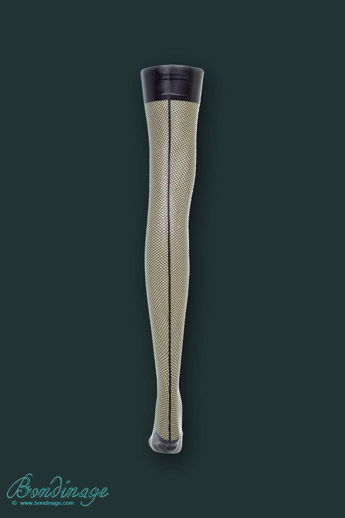 Fishnet Print Latex Stockings Bondinage Fetish Fashion