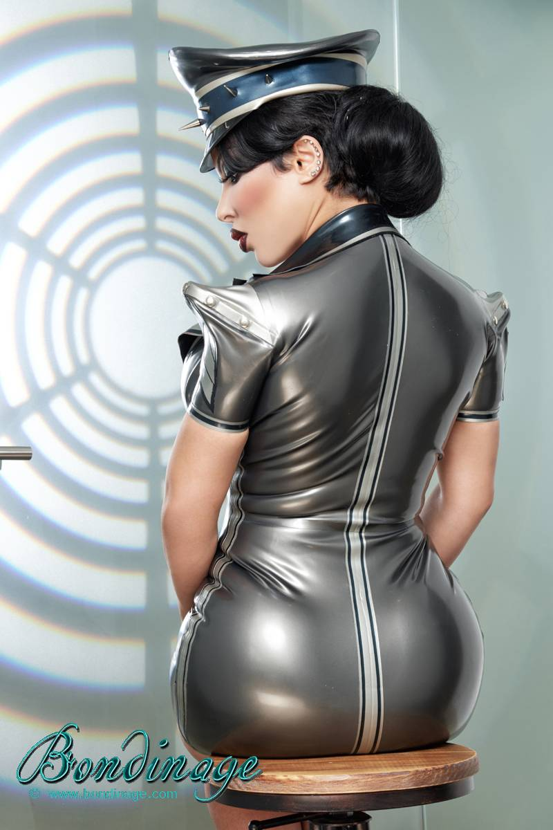 Military Rubber Latex Dress Bondinage Fetish Fashion